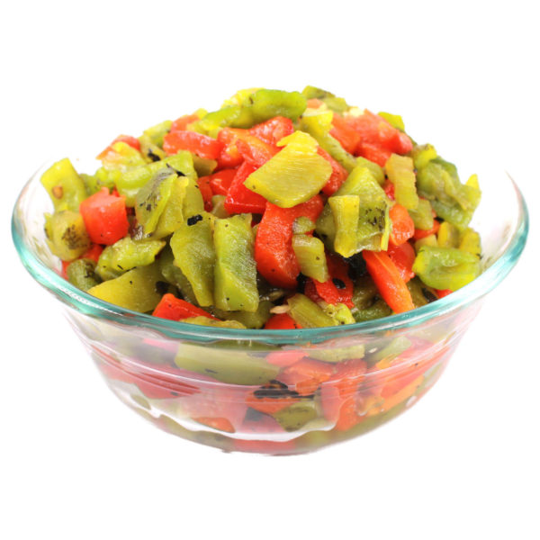 Anaheim Green Chile, Fire Roasted, Fiesta Mix Dice